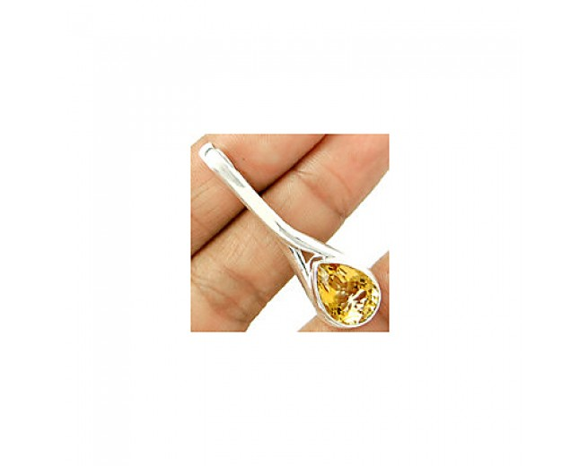 Stunning 925 sterling silver Citrine Pendant