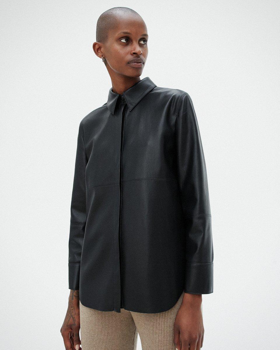 NAUM - Vegan leather shirt - Black