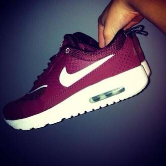 shoes burgundy nike nike air max thea air max nike air nike ai max thea