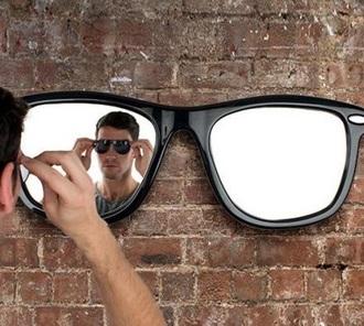 make-up sunglasses mirror black home decor