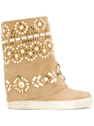 women embellished boots leather nude suede shoes