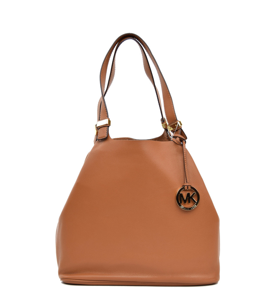 Michael michael kors brown leather colgate grab bag