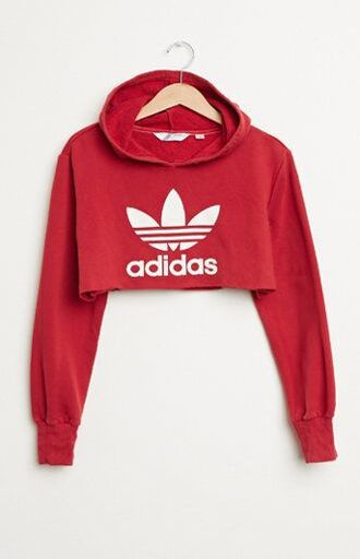 sweater cropped sweater hoodie cropped hoodie cropped adidas