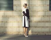 skirt,olivia palermo,fashion week 2014,streetstyle,sunglasses,sweater