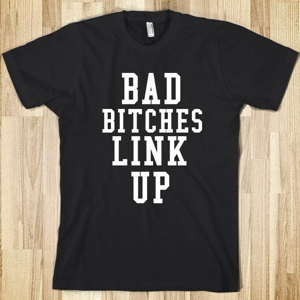 shirt black t-shirt bblu bad bitches link up