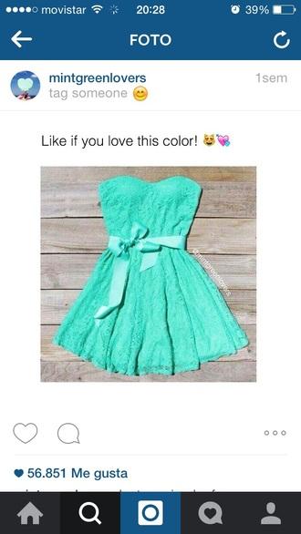 dress prom dress turquoise mint short