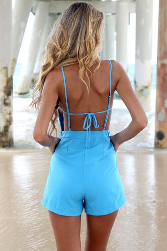 romper bikini luxe high waisted shorts playsuit summer fling romper summer playsuit teal bikiniluxe