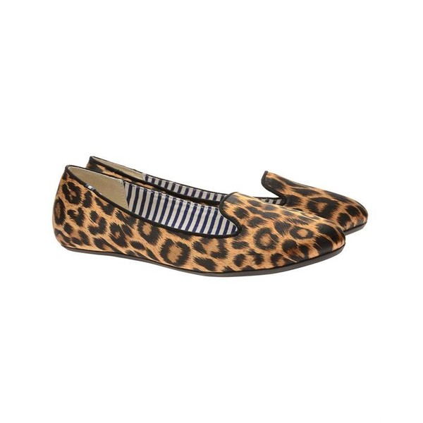 CHARLES PHILLIP Leopard Printed Satin Dress Slippers - Charl... - Polyvore