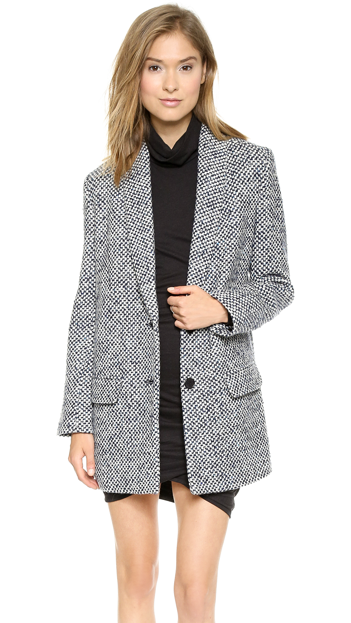 Pam & gela wool check coat