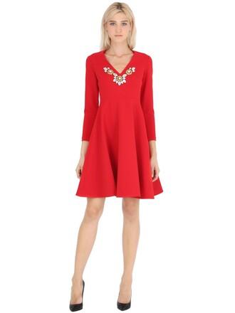 dress embellished red