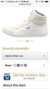 shoes,puma white size7 fresh kicks