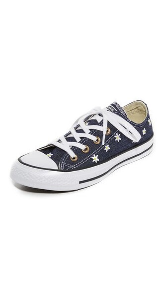 sneakers navy white yellow shoes