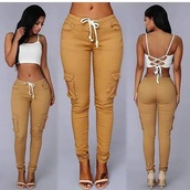 pants,joggers,nude,girl,crop tops,rita ora,bottoms,khaki,khaki pants,jeans,girly,girly wishlist
