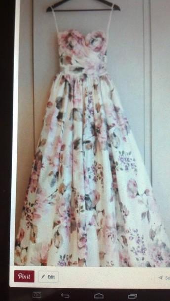 dress floral dress prom dress