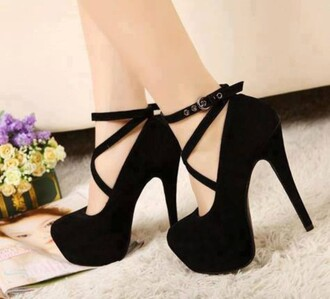 shoes heels black sexy elegant strappy style high heels trendy platform shoes buckles fashion feminine cute classy pretty beautiful platform heels platform high heels
