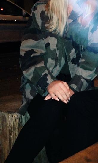 jacket camouflage army green jacket military style camo jacket