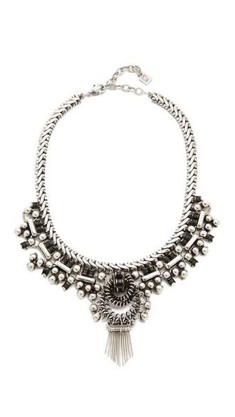 matte necklace silver black matte black jewels