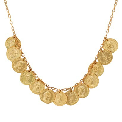Bronze Coin Necklace - Gold : Target