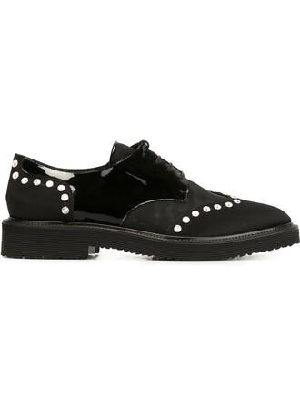 embellished shoes lace-up shoes lace black