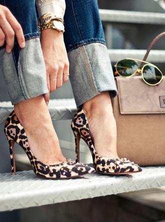 shoes leopard print high heels high heels
