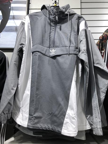 jacket adidas grey half zip