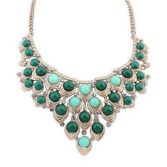 jewels mint necklace gold jewelry