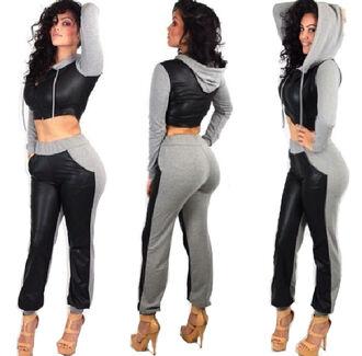 pants sweatpants jogger sport high heels hoodie grey black blouse red lime sunday
