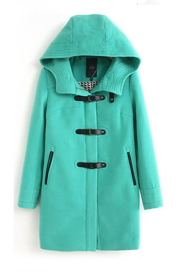 Hooded Buckles Zipper Woolen Coat [FEBK0516]- US$ 66.99 - PersunMall.com