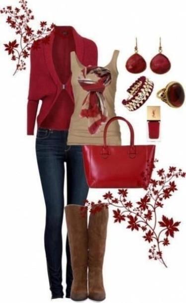 cardigan red cardigan