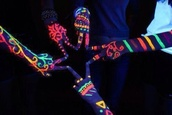 jewels,glow in the dark,neon,colorful,make-up