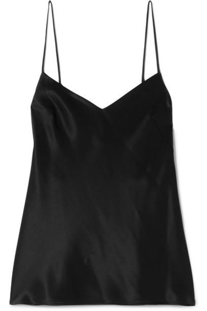 Galvan camisole black satin underwear
