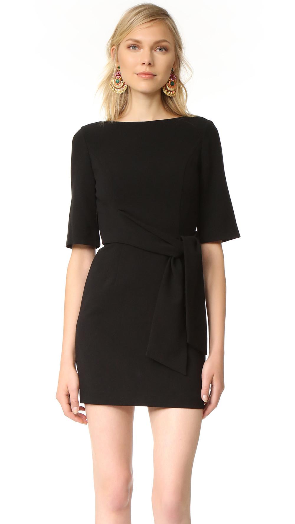 alice olivia fierra dress in black wheretoget
