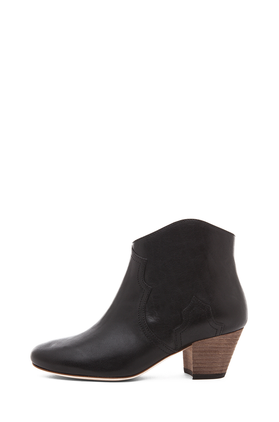 Isabel Marant | Dicker Calfskin Leather Boots in Black