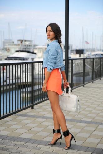 dress orange orange skirt
