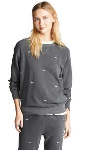 sweatshirt,college,bow,black,sweater
