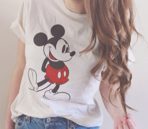 shirt clothes women t shirts white t-shirt white mickey mouse mickey