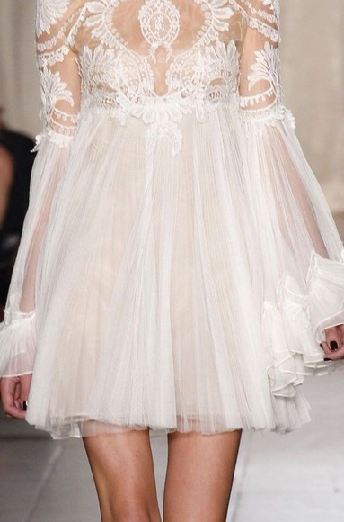 lace white dress frills cute fashion love perfect white lace