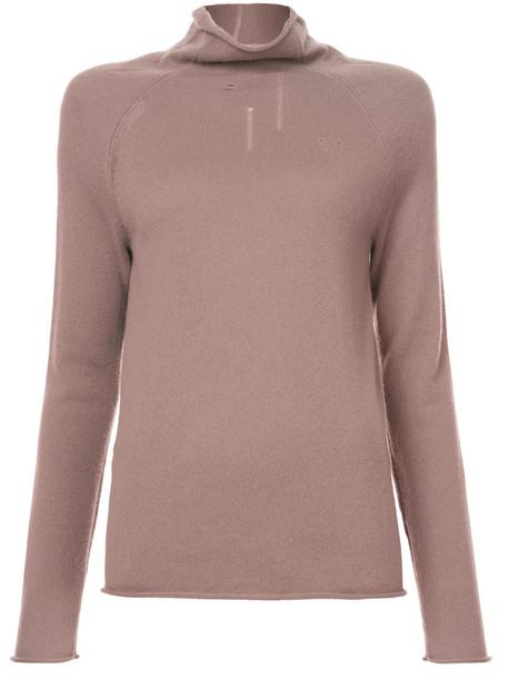 Raquel Allegra sweater turtleneck turtleneck sweater women purple pink