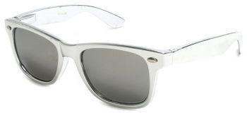 Metallic wayfarer retro sunglasses