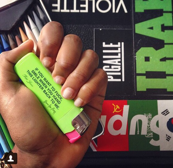 jewels lighter nail polish phone case 420 stoner freaky marijuana quote on it