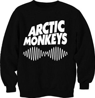 Arctic monkey musical band logo with sound wave crew neck trendy fashion unisex sweatshirt