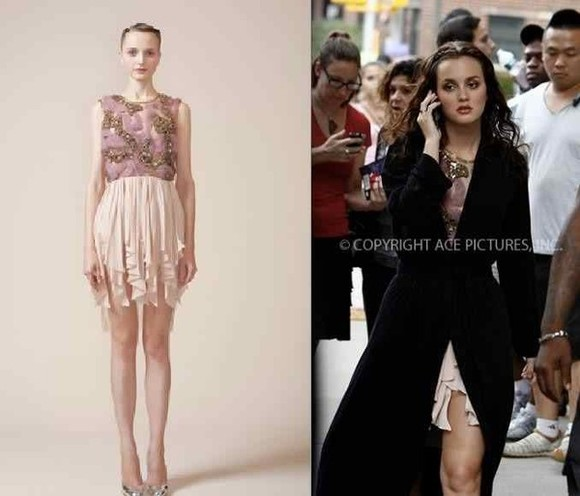 gossip girl blair blair waldorf leighton meester dress waldorf pink prom dress clothes lace dress