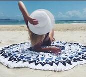 hair accessory,beach towel,mandala,beach,swimwear,cardigan,home accessory