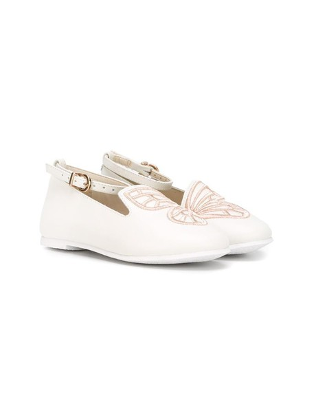 Sophia Webster Mini mini butterfly leather white cotton shoes