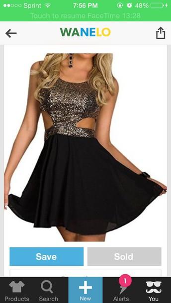 dress black & sparkles
