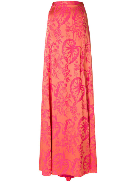 Temperley London skirt women spandex silk yellow orange