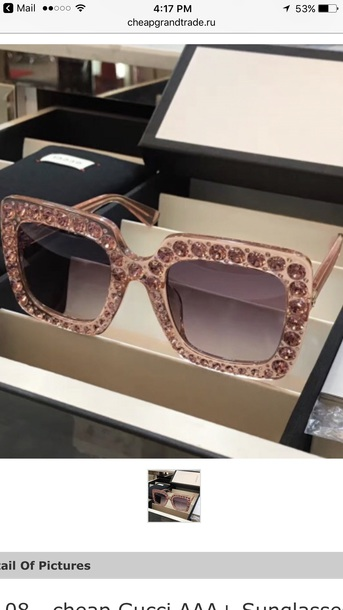 sunglasses gucci pink color