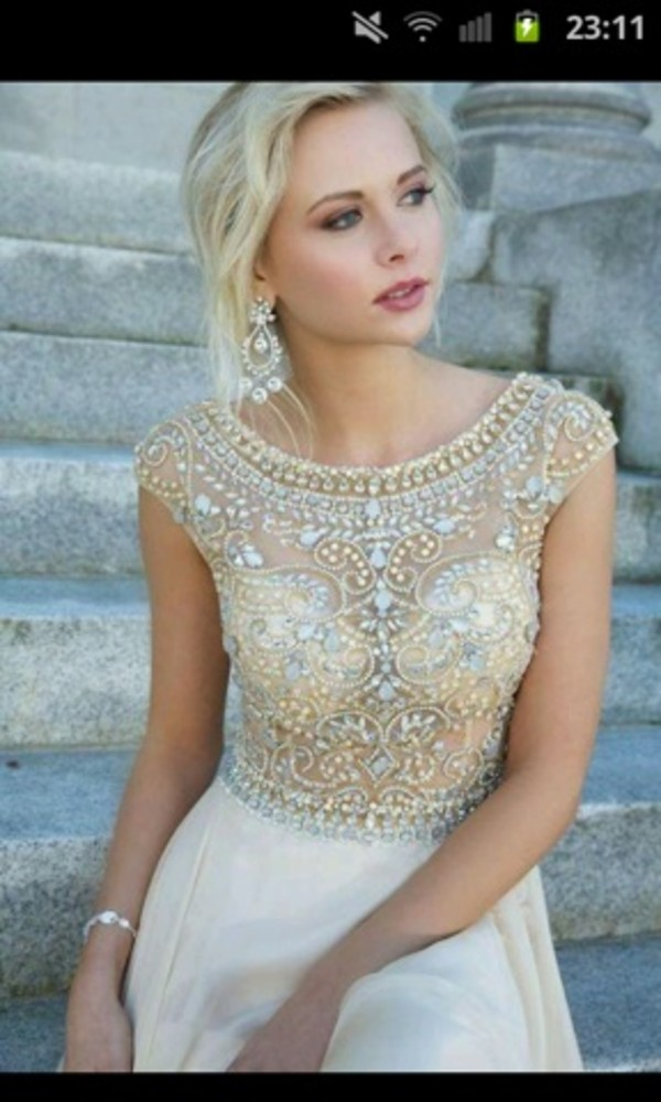 dress embellished dress embellished prom dress wedding dress jewells sequin dress sequins gold silver