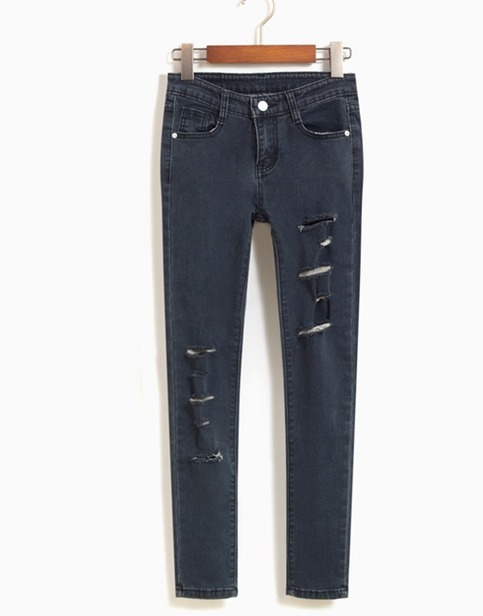 Black ripped skinny jeans from doublelw on storenvy