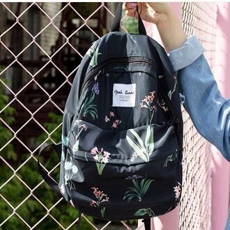 bag yeah bunny backpack flowers floral